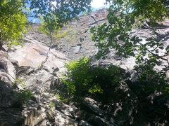 Rock Climbing Photo: Stunning line! Climbs the obvious right facing cor...