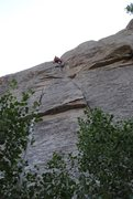 Rock Climbing Photo: Great route.  Totally burly at 5.9.   A must for a...