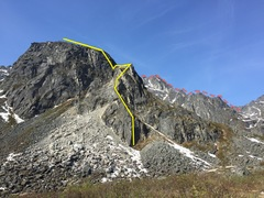 Rock Climbing Photo: View of the first 8 or so pitches.