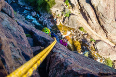 Rock Climbing Photo: Clay took this photo of my kids (7 & 8) working th...
