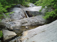 Rock Climbing Photo: just above Beede Falls