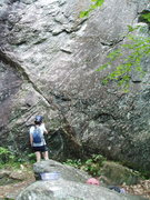 "Rock Climbing Photo: At base of ""Left Diagonal"". This wall is..."