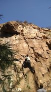 Rock Climbing Photo: Pat, definitely not falling on those SMC hangers d...