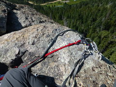 Rock Climbing Photo: New summit anchor. You can see where the old ancho...
