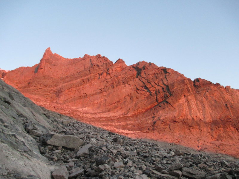 Rock Climbing Photo: Alpenglow up in here