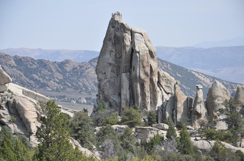 Rock Climbing Photo: Climbers on Morning Glory Spire