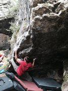 Rock Climbing Photo: Carl Gostola first try of the day.