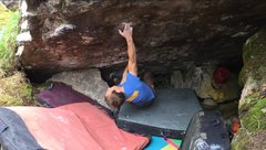 Rock Climbing Photo: John Andersen hitting the pocket.