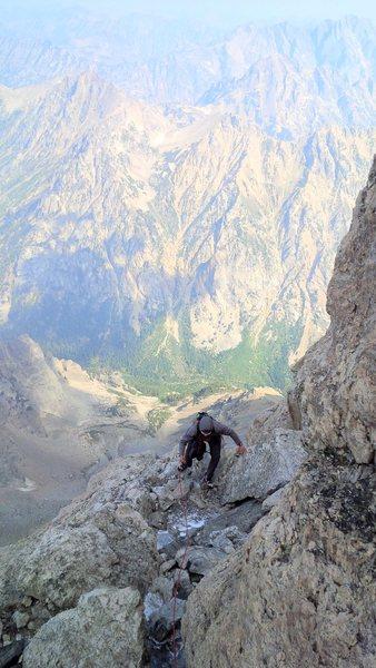 Rock Climbing Photo: Toping out owen chimney