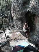 Rock Climbing Photo: John Andersen enters the Cavity