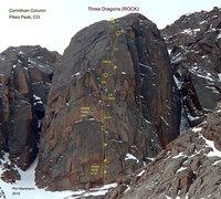 Rock Climbing Photo: Three Dragons, 10+/11-?
