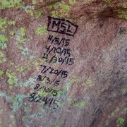 8/25 graffiti on summit of 1st Flatiron.