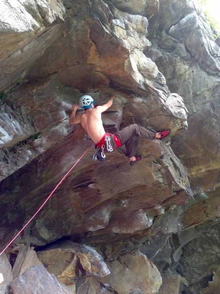 Rock Climbing Photo: Max on Oby-won Ryobi