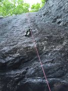 Rock Climbing Photo: Dave finishing a long and fun day on Bolt Line!