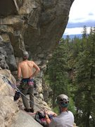Rock Climbing Photo: From the belay ledge.