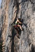 Rock Climbing Photo: Erica on the easier opening bit