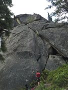 Rock Climbing Photo: Steve leadn'er