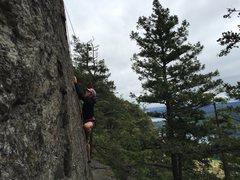 Rock Climbing Photo: Matt on it!