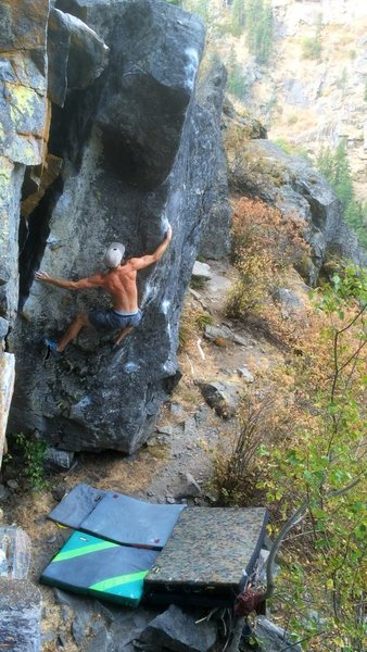 "the amazing ""blitzkreig"" on Castle Rock. Tumwater Canyon. WA"