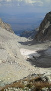 Rock Climbing Photo: Helicopter landing on the glacier in the moraine