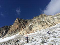 Rock Climbing Photo: Descending the glacier