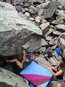 Rock Climbing Photo: Remo walking up Jockey Rocket