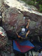 Rock Climbing Photo: Remo sending Undercling Fling