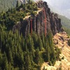 Rodeo Wall from the summit of Pinto Rock