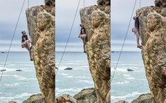 Rock Climbing Photo: HUGE Dyno!!!