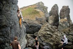 Rock Climbing Photo: Easy fun!