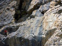 Rock Climbing Photo: Long 6a+ traverse
