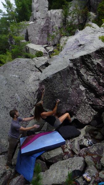 Rock Climbing Photo: McKenzie on Jockey Rocket.