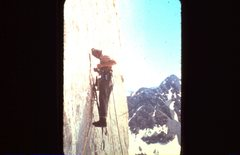 Rock Climbing Photo: Fred on Horse Creek Tower