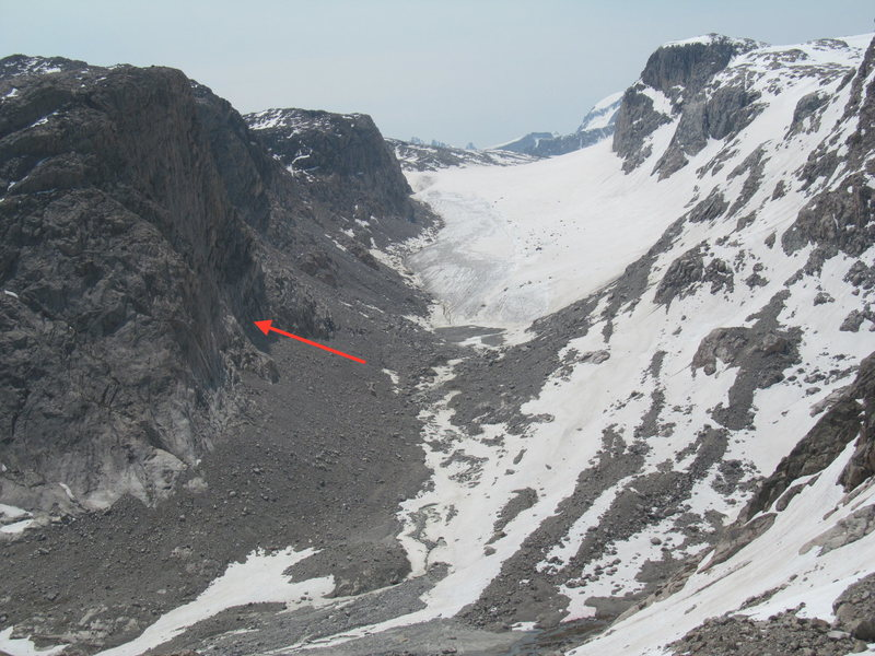 Potential location of West Face Left Route.