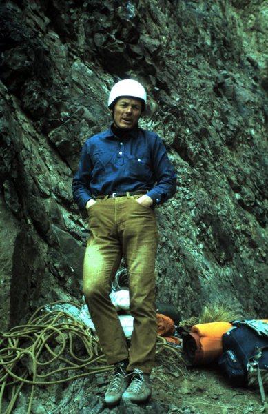 Rock Climbing Photo: Don Liska on direct West Face. Photo by Lee Davis