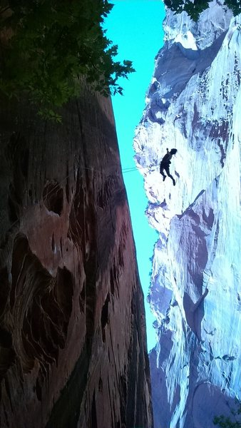 "Rock Climbing Photo: ""Namaste"" - Namaste Wall, Kolob Canyon U..."