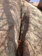 Rock Climbing Photo: 1st pitch of Walking in the Rain.
