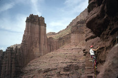 Rock Climbing Photo: Pitch 4 traverse. Third or fourth ascent of Brer R...