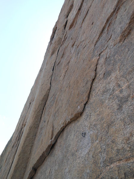 Rock Climbing Photo: The '13b' pitch. Strenuous traverse along the unde...