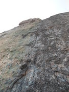 Rock Climbing Photo: Looking up at the last pitch of the route. The rou...