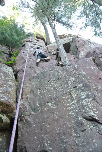 Rock Climbing Photo: Mike Sohasky midway up Sour Queen June 2015.