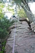 Rock Climbing Photo: Mike Sohasky pulling the upper most fun climbing m...