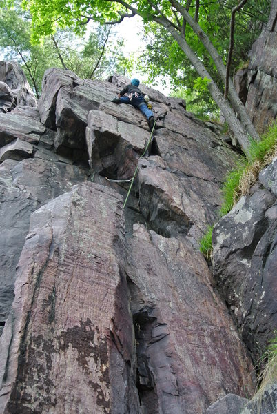 Rock Climbing Photo: Doug Hemken leading Pilloried May 2015.