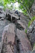 Rock Climbing Photo: Doug Hemken leading Pilloried May 2015.
