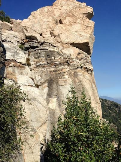 Rock Climbing Photo: West side of Sphinx Rock, Blue Bolts Wall