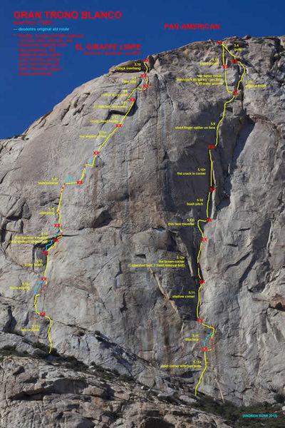 Rock Climbing Photo: El Trono Blanco (The White Throne) with topos for ...