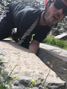 Rock Climbing Photo: Dustin on the FA.