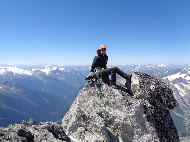 Rock Climbing Photo: S. Howser summit