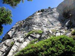 Rock Climbing Photo: Vanishing Point follows the fin/chimney/offwidth u...
