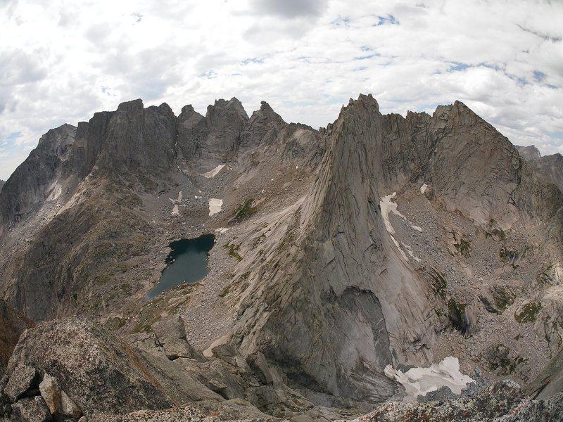 Rock Climbing Photo: from Pingora